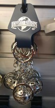 Universal Studios Exclusive Silver Finish Spinning Globe Keychain New - $19.58