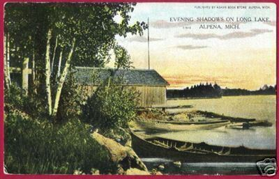 ALPENA MICHIGAN Boats Long Lake 1909 MI