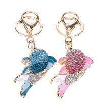 Unique Women Handbag Pendants Charming Rhinestone Fish Carp Keychain Key... - $3.66