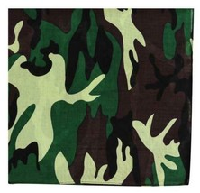 NEW MEN'S 12 PACK COTTON ARMY CAMOUFLAGE HEAD WRAP SCARF WRISTBAND BANDANA GREEN image 2