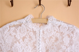 Button Down Short Sleeve Lace Tops Boho Wedding Crop Lace Top WD163 image 6