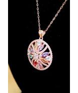 NEW! Swarovski Crystal & Rose Gold Disc Pavé Gorgeous Pendant Necklace $182 - $69.00