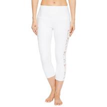 Onzie Bridal White Lace Stunner Capri Leggings Size M/L image 3