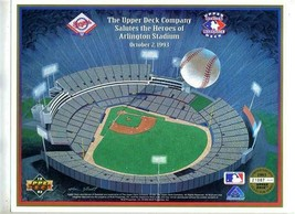 2 Upper Deck Salutes the Heroes of Arlington Stadium 1993 Limited Editio... - $11.88