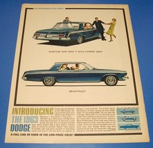 Vintage 1963 Dodge Dart ~ Original Full Page Print Ad ~ Car Auto - $6.18