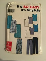 Simplicity Sewing Pattern 9781 Top Skirt Pant 8 10 12 14 16 18 New Packa... - $12.62
