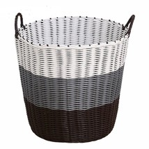 Basket Laundry Plastic Weaved Handles Box Household Sundries Clothes Toy... - $22.89