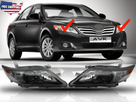 Fit For 2010 2011 Toyota Camry Projector Headlights Black Housing Pair S... - $163.61