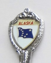 Collector Souvenir Spoon USA Alaska Flag Emblem Map Bowl - $3.99