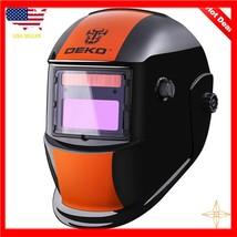 Welding Helmet Solar Powered Auto Darkening Hood with Adjustable Shade R... - $47.58+