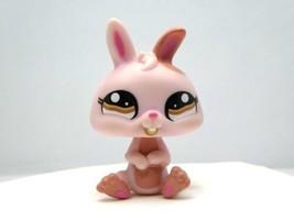 Littlest Pet Shop #1366 Pink & Tan Dwarf Rabbit Bunny with Brown Eyes  LPS - $6.36