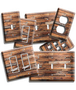 RUSTIC BARNWOOD RECLAIMED WOOD LOOK LIGHT SWITCH OUTLET PLATES RANCH BAR... - $9.99+