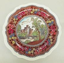 "Spode Copeland Delft Tower Pattern Dinner Plates 10.5"" Warwick Castle - $39.11"