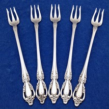 """Oneida RAPHAEL (5) Cocktail/Seafood Forks 6"""" Dist. Deluxe Stainless Flat... - $14.84"""