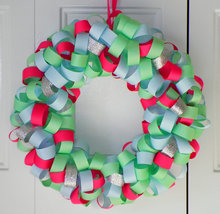 Glittery Pastels Loopy Ribbon Wreath - $29.00