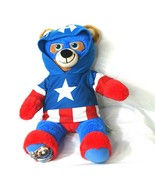 Marvel Captain America Build-A-Bear TALKING with Hoodie Shirt 18 inch Re... - $24.74