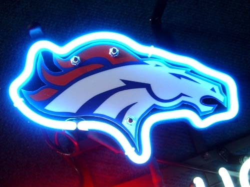 "NFL Denver Broncos Coors Light Football Neon Light Sign 15"" x 9"""