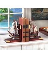 Ship SAILING SCHOONER BOOKENDS Nautical Book end Books Organize Desk Tab... - $671,86 MXN