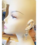 mermaid fairy hoop charm earrings dangles long metal handmade fantasy fa... - $5.99