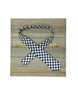 Black / White Checkered Skinny NECKTIE - Slim Soft Classy - Men Women Un... - $6.73