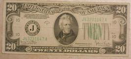 Series 1934 D Twenty Dollar Federal Reserve Note.   - $33.81