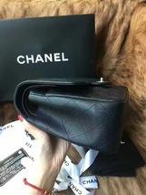 Authentic NEW Chanel Black Jumbo Caviar Double Flap Bag Silver Hardware Receipt image 5