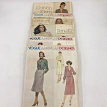 Vtg 80s 90s Vogue American Designer French Boutique Lot 6 Sewing Patterns PT2 - $17.95