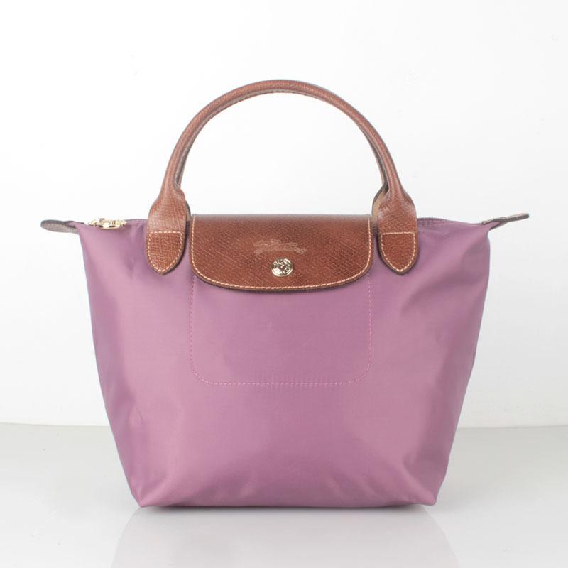 Longchamp Le Pliage Small Short Handel Nylon Handbag Lilac 1621089619