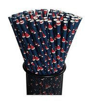 Gentle Meow 100 Pack Christmas Series Disposable Drinking Straws Party B... - $17.23