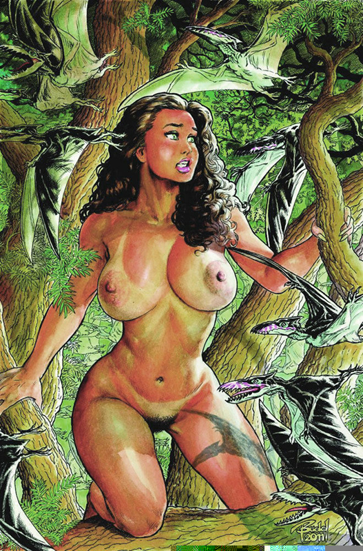 B422 12x18 cavewoman all natural pinup budd root special edition nude nice  nm new amryl