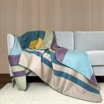 Soft & Warm Reversible Alpaca wool Throw Blanket Queen double-sided 94 x 62 in - $74.20