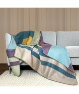 Soft & Warm Reversible Alpaca wool Throw Blanket Queen double-sided 94 x 62 in - £53.37 GBP