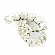 Rhinestone Vintage Brooch  Cocktail  Pin 1940S Large  Unique - $10.22