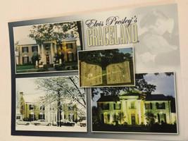 Elvis Presley's Graceland Memphis Postcard Multiple Shots In One - $3.46