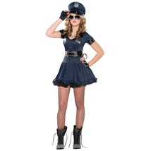 Deluxe Locked N Loaded 6 Pc Costume Junior Med 7 - 9 Policewoman Sexy - $66.49