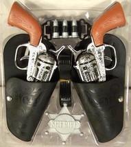 Complete Twin Western Hero Play Gun Set Toy Guns Holster Belt Cowboy Sheriff - $6.88