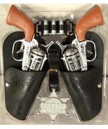 COMPLETE TWIN WESTERN HERO PLAY GUN SET toy guns holster belt cowboy she... - $6.88