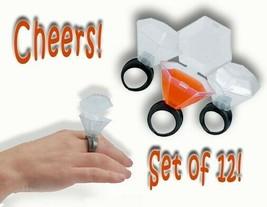 (12) Plastic Shot Glass Ring- Shot Glasses Dozen-1 Dz Bachelorette Supplies - $7.98