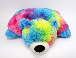 "My Pillow Pets Rainbow Peace Sign Bear 18"" Clean Super Soft Naptime Toddler - $24.74"