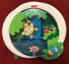 Fisher Price Rainforest Waterfall Peek A Boo Crib Soother - Note Water L... - $19.95