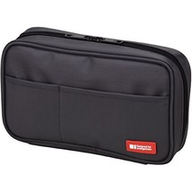 LIHIT LAB Pen Case, 7.9 x 2 x 4.7 inches, Black A7551-24 - $9.94