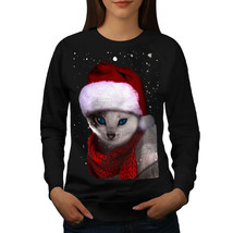 Christmas Cat Jumper Hat Women Sweatshirt - $18.99