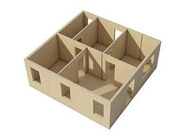 Doll House Plans DIY Dollhouse Pretend Play Woodworking - $11.95