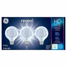 GE Reveal 43-Watt Energy Efficient Decorative Halogen Light Bulb (3pk) image 1