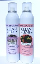 2 Yankee Candle Lavender & Macintosh Clean Scents Original Air Refresher 8 Oz - $37.95