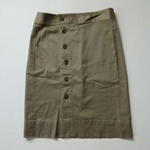 NWT J.Crew Side-button Pencil in Dusty Khaki Stretch Chino Skirt 8 - $29.00