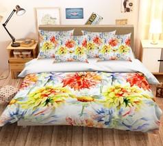 3D Painted Peony 26 Bed Pillowcases Quilt Duvet Single Queen King US Lemon - $102.84+