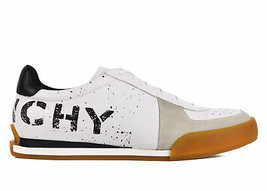 Givenchy Womens White Set 3 Logo Print Leather Tennis Sneakers IT39/US9~... - $470.25