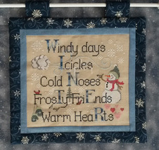 Winter Things cross stitch chart Waxing Moon Designs - $7.20