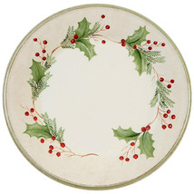 4 Lenox Holiday Gatherings Berry Dinner Plates New In The Box - $128.69